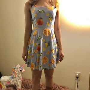 Blue Fruit Dress 🍉🍊🍋🍒🍑